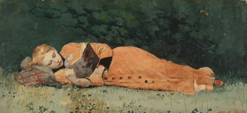 Winslow-Homer-The-New-Novel