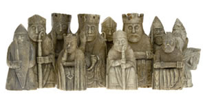 Lewis Chessmen on Display at National Museum of Scotland