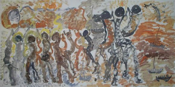 Purvis Young Capsize Davy Jones Locker Nd Collection Miami Art Museum Gift Of Dr Shulamit Chaim Katzman