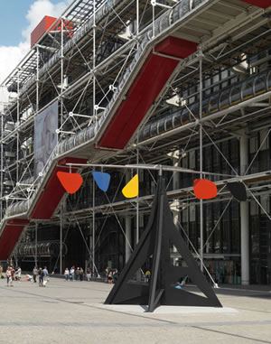Alexander Calder Horizontal permanently installed in front of Centre Pompidou