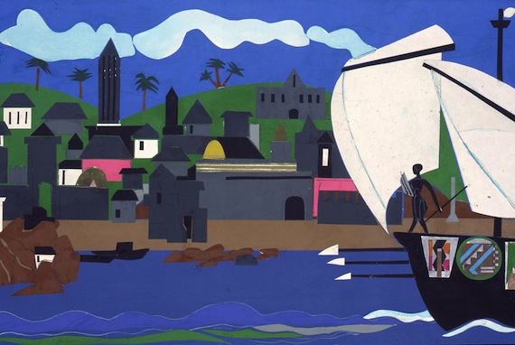 Romare Bearden, Home to Ithaca, 1977, Collage, Courtesy Mount Holyoke College Art Museum, South Hadley, Massachusetts. Gift of the estate of Eileen Paradis Barber (Class of 1929)