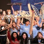 Museum of Flight Scene of Popsicle Stick Bridge Contest and Engineering Fair Feb. 9