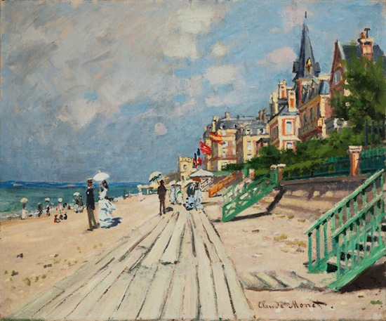 Claude Monet The Beach at Trouville