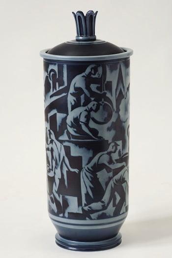 Lidded urn designed by Gunnar Nylund