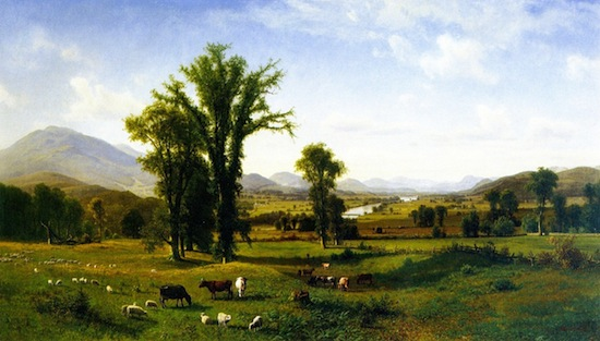 Albert Bierstadt, Mt. Ascutney from Claremont, New Hampshire, 1862. 40.5 x 70.5 in. Fruitlands Museum