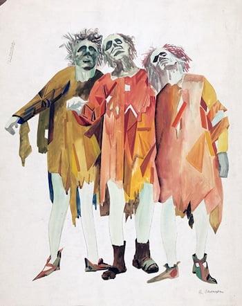 Boris Aronson, Three men.