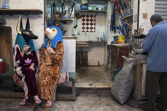 J&K, Horus and Anubis in Islamic Cairo, 2006. Photo (pigment print on paper), 75 x 112 cm. Courtesy of the artists.