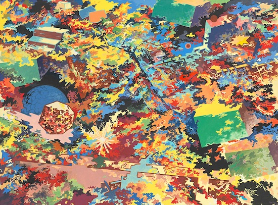 Mike Brown (Australia 1938–97), Manifestations 1982. Synthetic polymer on canvas, 182.8 x 243.8 cm. National Gallery of Victoria, Melbourne. Purchased through The Art Foundation of Victoria with the assistance of Marc Besen, Governor, 1984© Estate of the artist.