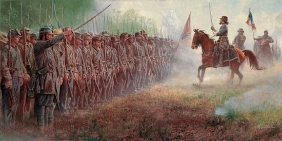 Mort Künstler,Pickett's Charge: Gettysburg, July 3, 1863, oil on canvas, ©2012 Mort Künstler, Inc.