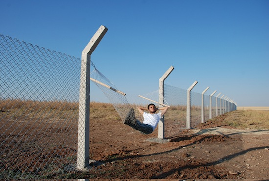 Murat Gok, Border (Hammock), 2010. Courtesy the artist and PILOT Gallery, Istanbul.
