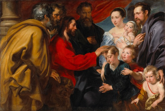 Anthony van Dyck, Suffer Little Children to Come Unto Me, c. 1618–20. Oil on canvas. Purchased 1937. National Gallery of Canada, Ottawa. Photo © National Gallery of Canada