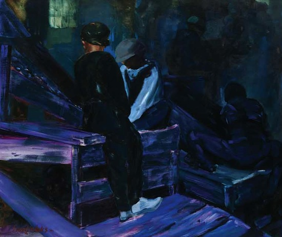 George Luks (1867–1933), The Breaker Boys, ca. 1925. Oil on canvas, 50 x 60 in. (right), The Huntington Library, Art Collections, and Botanical Gardens.