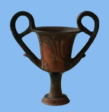 Apulian red-figure kantharos - a drinking cup - from the Bland Collection