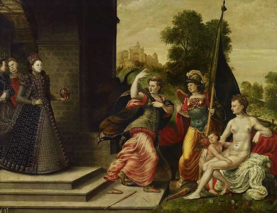 Hans Eworth, Elizabeth I and the Three Goddesses, 1569. Royal Collection Trust / © 2013, Her Majesty Queen Elizabeth II.