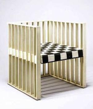 Koloman Moser Armchair ca. 1903 Execution: Prag Rudniker Korbwaren Fabrikation Beechwood, painted white; woven cane seat, painted black and white Neue Galerie New York