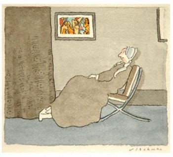 "R.O. Blechman (b. 1930), ""Whistler's Mother,"" n.d. ©R.O. Blechman. All rights reserved."