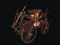 National Museum of American History displays 19th-century fire pumper