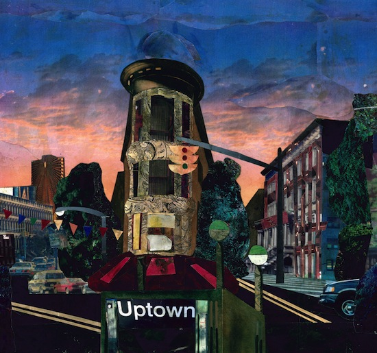 "Bryan Collier, ""Uptown is home,"" from Uptown, © 2000 Bryan Collier, author and illustrator Henry Holt and Company Collage, mixed media, 16 ¾ x 17 ¾ inches Courtesy of the artist"