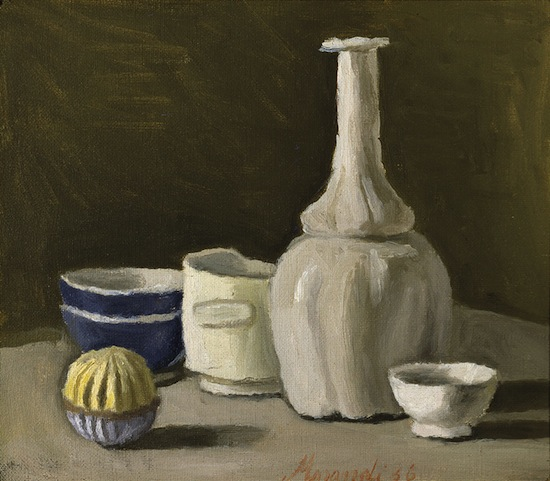 deux peintres italien du XX éme siècle; giacometti et morandi Giorgio-Morandi