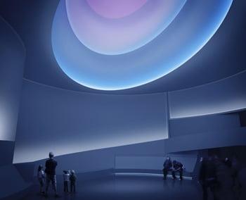 James Turrell, rendering for Aten Reign, 2013. Daylight and LED light. Site-specific installation, Solomon R. Guggenheim Museum, New York. © James Turrell. Rendering: Andreas Tjeldflaat, 2012. © Solomon R. Guggenheim Foundation.