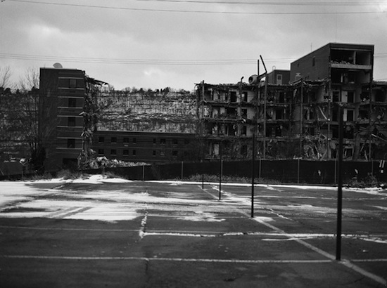 LaToya Ruby Frazier, Holland Avenue Parking Lot, 2011. Silver gelatin print, 30 x 40 inches. Courtesy the artist and Galerie Michel Rein, Paris.