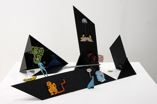 Öyvind Fahlström, Black House, 1968. Variable structure, magnetic elements, enamel and tempera on metal, 30.5 x 63.5 x74 cm. © Sharon Avery-Fahlström. Courtesy Aurel Scheibler, Berlin.