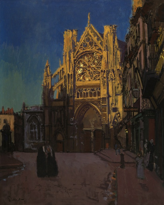 Walter Sickert (1860-1942), The Façade of St Jacques 1902, Oil on canvas, 51 1/2 x 39 ¾ ins (130.8 x 101.8 cm), courtesy The Fine Art Society.