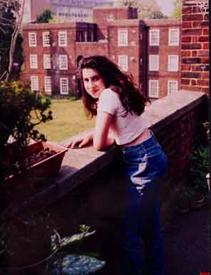 A young Amy Winehouse outside her Nan's flat in Southgate. Photographer unknown © The Winehouse family.