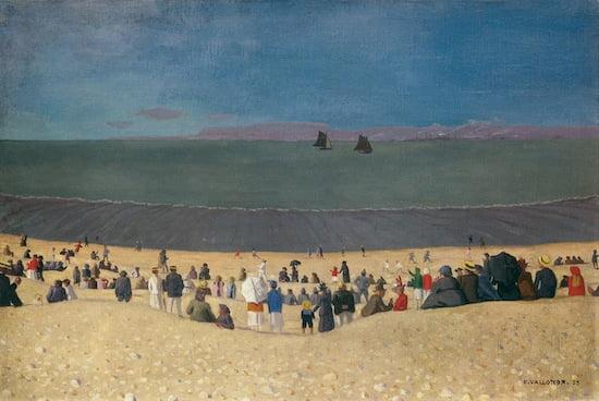 Félix Vallotton, La plage à Honfleur, 1919. Oil on canvas, 54 x 81 cm. Private collection