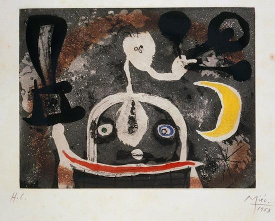 Joan Miro, Series III, 1952-1953. Etching and aquatint. 24,5 x 32 cm
