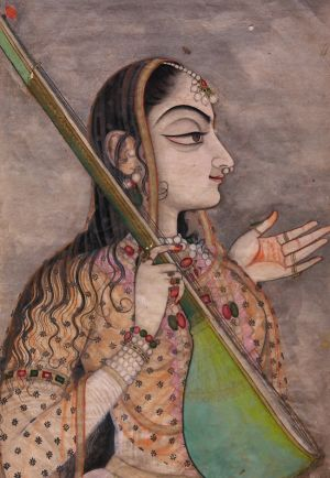 A lady singing Kishangarh, c.1740 Gouache with gold on paper © The Collection of Howard Hodgkin