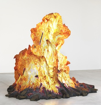Martin Honert, Feuer/Fire, 1992. Painted and illuminated polyester. The Museum of Contemporary Art, Los Angeles. Partial and promised gift of Ivan Moskowitz and Herbert Moskowitz, 98.85. © Martin Honert/SODRAC (2013). Photo: Rachel Topham, Vancouver Art Gallery.