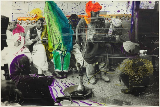 Sigmar Polke (German, 1941–2010). Untitled (Quetta, Pakistan). 1974-1978. Watercolor and pen on gelatin silver print, 22 3/8 × 33 13/16″ (56.9 × 85.9 cm). Glenstone. © 2013 Estate of Sigmar Polke/ Artists Rights Society (ARS), New York / VG Bild-Kunst, Bonn.