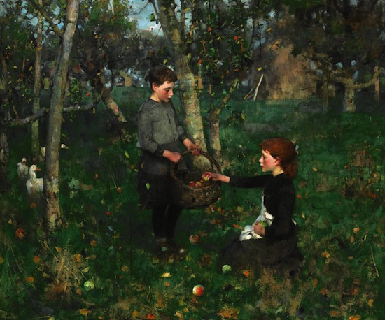 Sir James Guthrie (1859-1930), In the Orchard, 1885-86. Purchased by the National Galleries of Scotland and Glasgow Museums with the assistance of NHMF and the Art Fund, 2012.