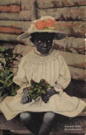 Unknown, Australia | (South Sea Island girl) c.1900-10 | Colourised postcard | Purchased 2010. Queensland Art Gallery Foundation | Collection: Queensland Art Gallery