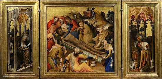 Bruges (?), Triptych with the Embalming of the Body of Christ, c.1410-1420. Collection Museum Boijmans Van Beuningen