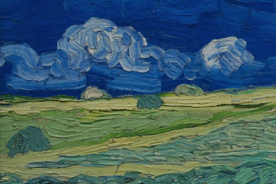 Van Gogh Museum launches Relievo collection of Van Gogh masterpieces in Hong Kong Detail of Relievo, Wheatfield under thunderclouds. Van Gogh Museum Amsterdam.