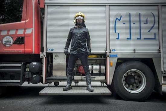 Ahmet Öğüt, Fahrenheit 451: Reprinted, 2013. Participatory performance and mixed media. Photo: Tuomo Manninen. © Checkpoint Helsinki.
