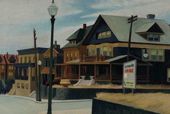 Edward Hopper (1882-1967), East Wind over Weehawken, 1934. Oil on canvas; 34 x 50 1/4 in. © Heirs of Josephine N. Hopper, licensed by the Whitney Museum of American Art.