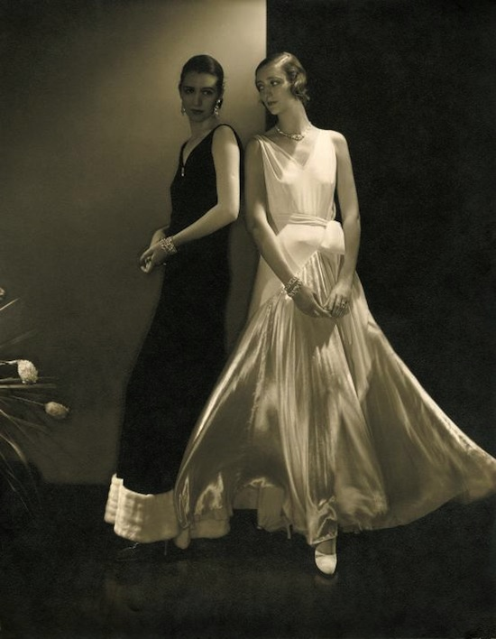 Edward Steichen  American 1879–1973, worked in France 1906–23 Marion Morehouse and unidentified model wearing dresses by Vionnet 1930 gelatin silver photograph Courtesy Condé Nast Archive  © 1930 Condé Nast Publications