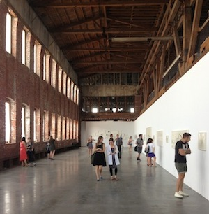 Site visit to Pioneer Works in Red Hook, Brooklyn. Curatorial Intensive in New York, July 27, 2013. Photo: ICI.