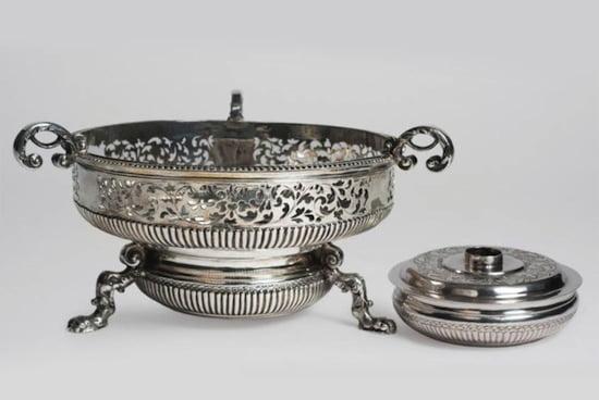 Plate warmer by Rudolf Wittkopf, 1709