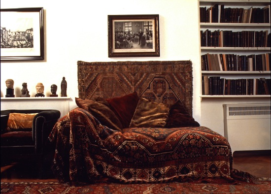 Sigmund Freud's analytic couch. Freud Museum, London.