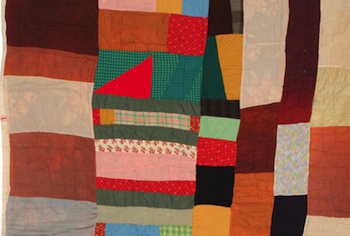 Susana Allen Hunter (American, 1912–2005), Strip Quilt, 1945–1950. Cotton, wool, acetate, and rayon. The Henry Ford, 2006.79.26. From the Collections of The Henry Ford, Dearborn, Michigan.