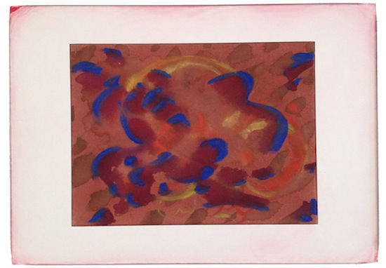 Will Benedict, Untitled, 2013. Gouache on canvas and foamcore, 23.2 x 16.5 inches framed with aluminum, glass and tape. Courtesy of the artist and Gio Marconi, Milan.