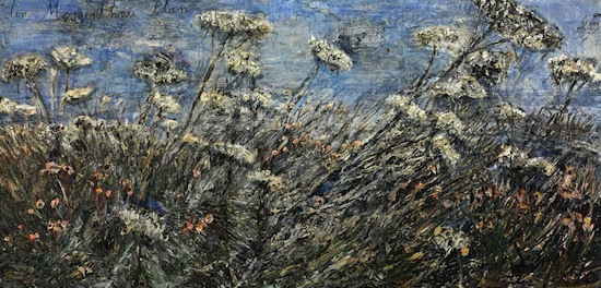 Anselm Kiefer (German, born 1945). der Morgenthau Plan (The Morgenthau Plan), 2012. Emulsion and acrylic on photograph on canvas, 110 x 224 inches (279.4 x 569 cm). Collection Albright-Knox Art Gallery. Pending Acquisition Funds, 2013. Image courtesy of the Gagosian Gallery.