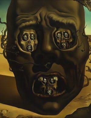 Salvador Dalí, Le visage de la guerre, 1940, oil on canvas, 64 x 79 cm. Collection Museum Boijmans Van Beuningen.