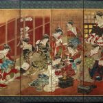 British Museum presents Women of the pleasure quarters a Japanese painted screen
