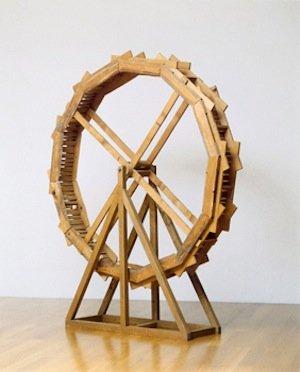 André Thomkins, Xylophon-Rad, 1984. Wood and metal, 200 x 30 cm. Photo: Heinz Preute, Vaduz. © VG Bild-Kunst, Bonn 2013.