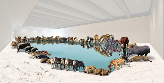 Cai Guo-Qiang, Heritage, 2013. Artist's computer rendering. Commissioned for Cai Guo-Qiang: Falling Back to Earth, 2013. Proposed for the Queensland Art Gallery Collection with funds from the Josephine Ulrick and Win Schubert Diversity Foundation through and with the assistance of the Queensland Art Gallery | Gallery of Modern Art Foundation.